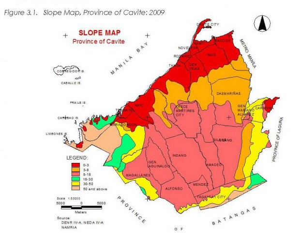Topography , Province of Cavite