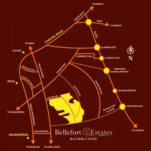 Bellefort Estates Road Map