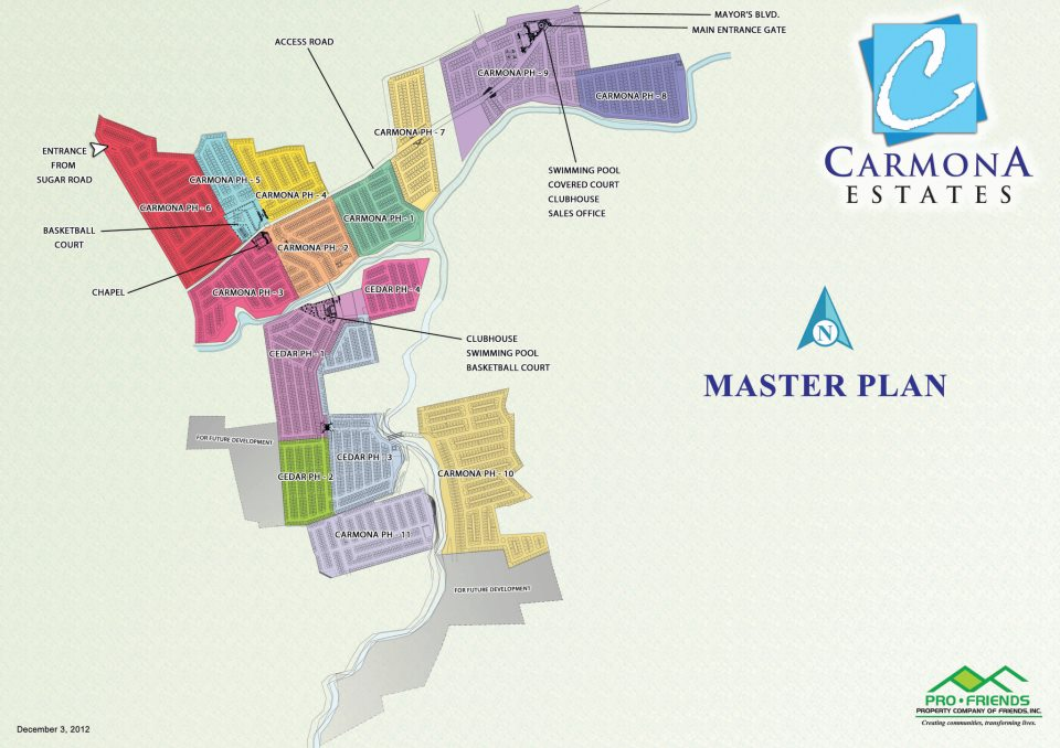carmona estates master plan
